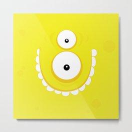 Psychos - Crazy Monsters (Yellow) Metal Print