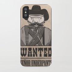 WANTED: SENOR UNDERPANTS iPhone X Slim Case