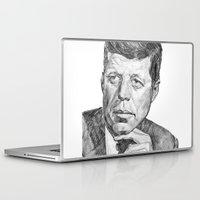 jfk Laptop & iPad Skins featuring JFK by Monifa Charles