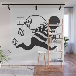 Dropping Gems Wall Mural