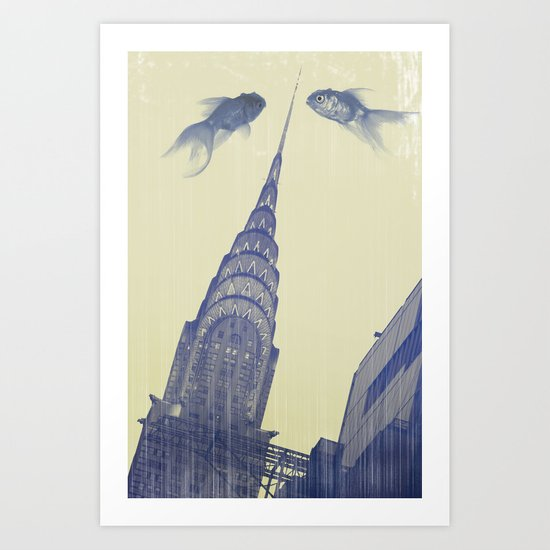 chrysler gold fish Art Print