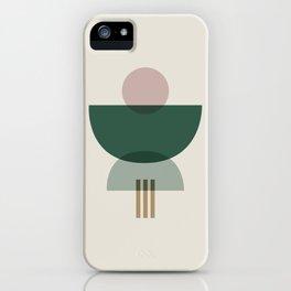 Emerald Abstract Half Moon 3 iPhone Case