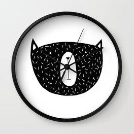 Not So Grizzly Bear Wall Clock