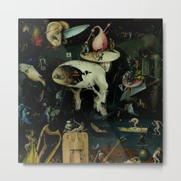 "Hieronymus Bosch ""The Garden of Earthly Delights"" - Hell Metal Print"