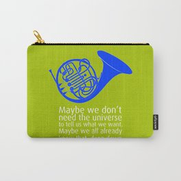 Blue French Horn Carry-All Pouch