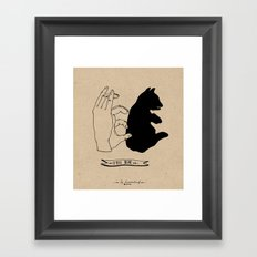 Hand-shadows Framed Art Print