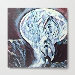 The Healing Moon Metal Print