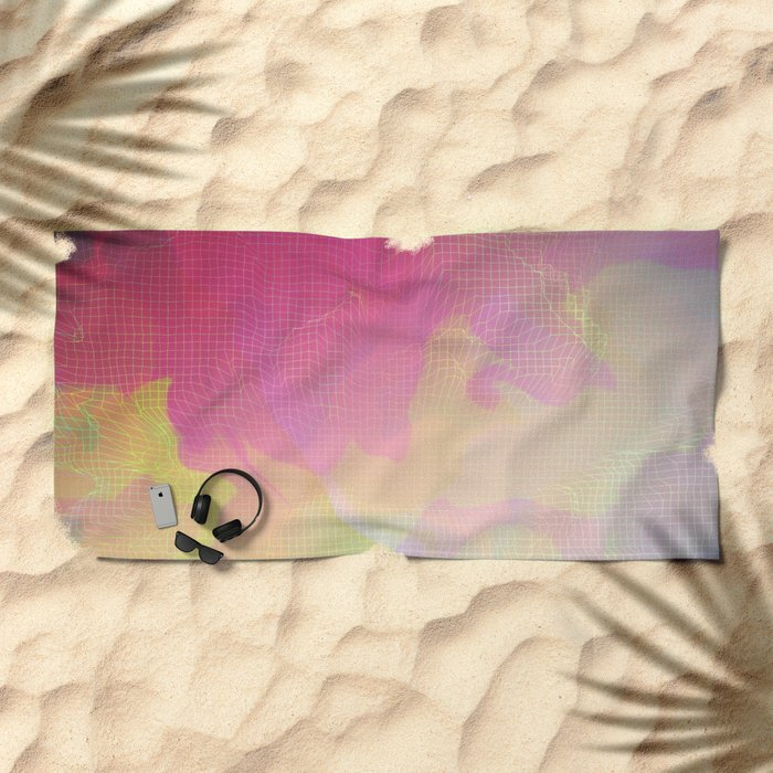 Glitch 10 Beach Towel