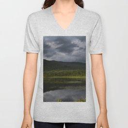 Long Pond in Eden, Vermont Unisex V-Neck