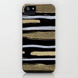 Golden splash iPhone Case