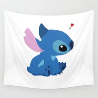 stitch Wall Tapestries featuring Stitch by Stapanda