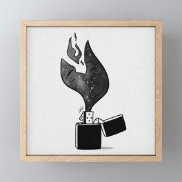 Fired up. Framed Mini Art Print