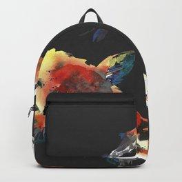 Watercolor design. Koi fish. Japanese style. Backpack