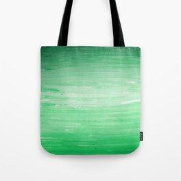 Ombre Green Stripes Tote Bag