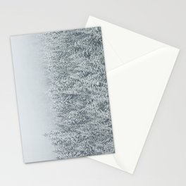 snow  forest winter trees Stationery Cards