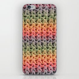 Colorful Chunky Knitted Effect iPhone Skin