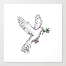 Dove Olive Leaf Tattoo Canvas Print