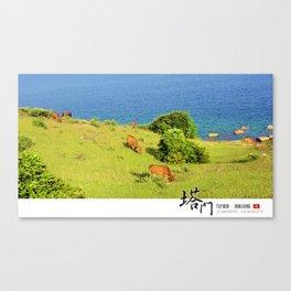 Cattles at Tap Mun, Hong Kong Canvas Print