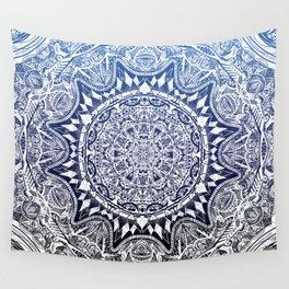 Blue Gradient Mandala Wall Tapestry