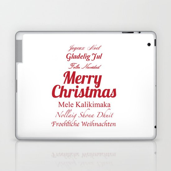 Merry Christmas Many Times Over 2 Laptop & iPad Skin