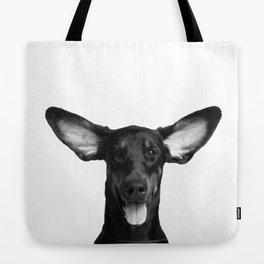 DOG - DOBERMAN BLACK & WHITE Tote Bag