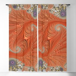fractal art artwork pattern fractal Blackout Curtain