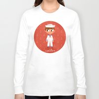 sailor Long Sleeve T-shirts featuring Sailor by Anoosha Syed