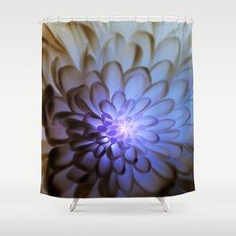 Unique Duvet Cover - Floral Design in Blue # 24 Shower Curtain