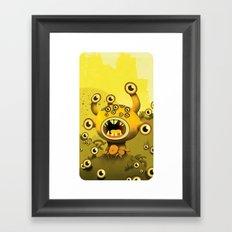 yellow eyes Framed Art Print