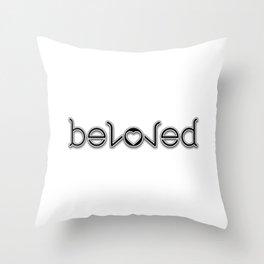 BELOVED ambigram Throw Pillow