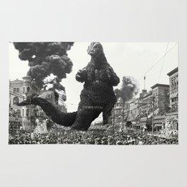 New Orleans Godzilla Attack 1908 Rug