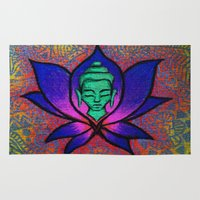namaste Area & Throw Rugs featuring Namaste. by Gabrielle Wall