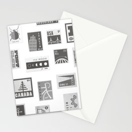 USA, Canada, London, The Moon Stationery Cards