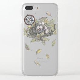 The Eagle and the Owl Clear iPhone Case