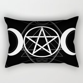 Triple Moon Pentagram Rectangular Pillow