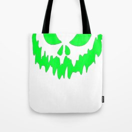 Scary Face Halloween Tshirt- Glow in the Dark Effect Print Tote Bag