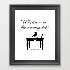 Alice In Wonderland Why Is A Raven Like A Writing Desk Framed Art Print