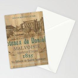 Barrel Wine Label 2 Stationery Cards