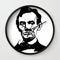 lincoln Wall Clocks featuring LINCOLN $ by b & c