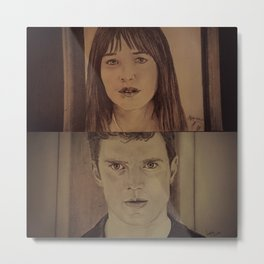 Christian and Ana elevator 2/2 - FIFTY SHADES OF GREY Metal Print