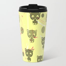 Cute happy kittens Travel Mug