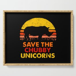 Save The Chubby Unicorns Serving Tray