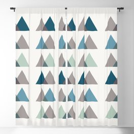Color Theory in Blue and Ash Blackout Curtain