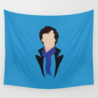 moriarty Wall Tapestries featuring 1 Sherlock Holmes by Alice Wieckowska