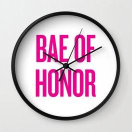 Bae Of Honor - Wedding Bridesmaid Bachelorette Party Design Wall Clock