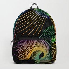 Geometric Line Morphs Backpack
