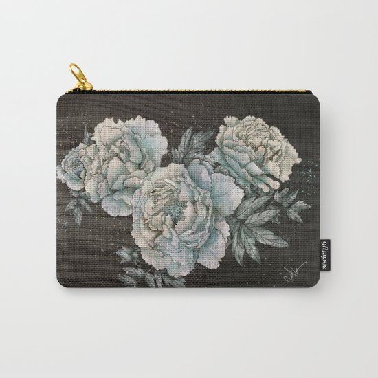 Peony Wood Carry-All Pouch