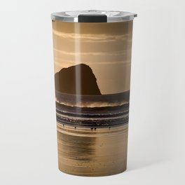 Rhossili beach and Worms Head Travel Mug