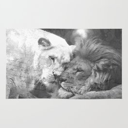 Lion in Love Rug
