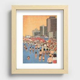 Tel Aviv Beach in the 80s Recessed Framed Print